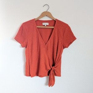 Madewell Texture and Thread Rust Crossover Top